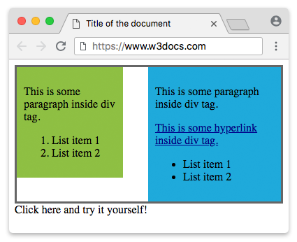Div layout examples css.