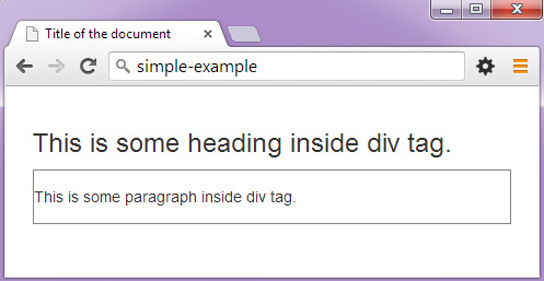 Html tag - Div tag in html ...