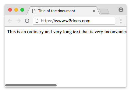 HTML <nobr> Tag