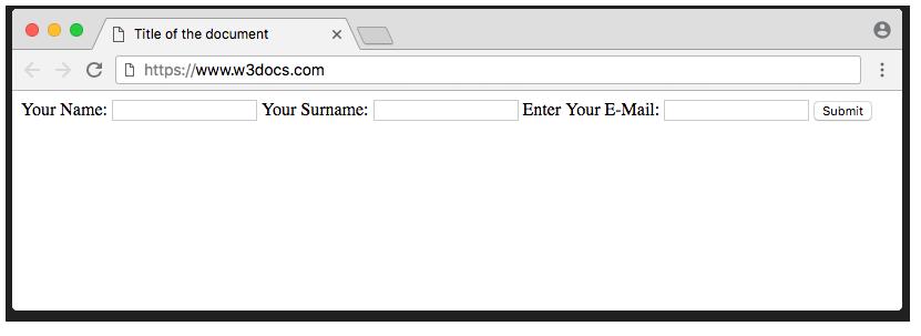 HTML <input> Tag