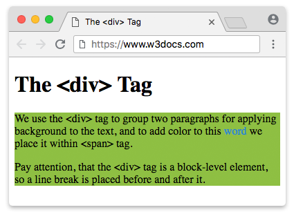 Content as pdf div