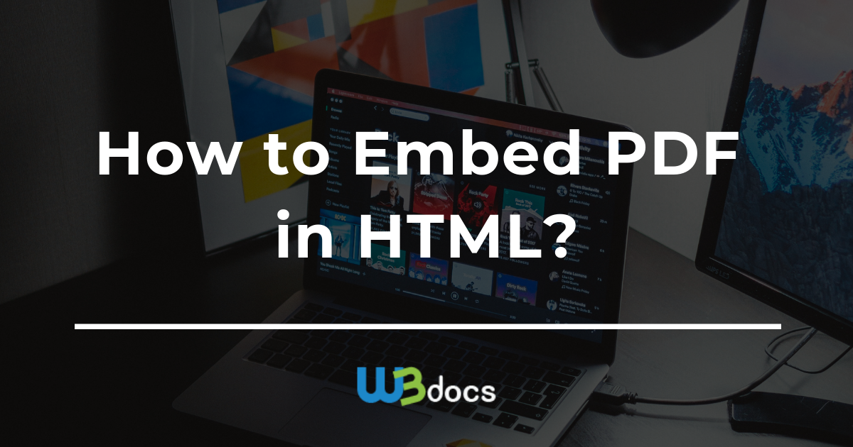 How To Embed Pdf In Html