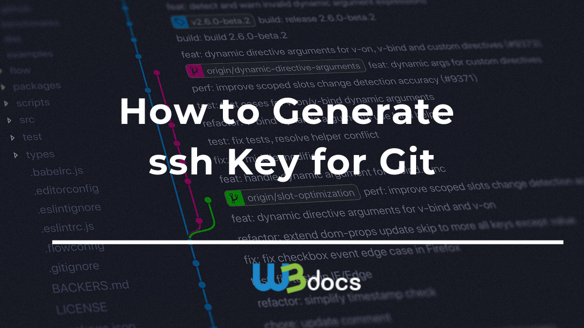 How to Generate SSH Key for Git -W3docs